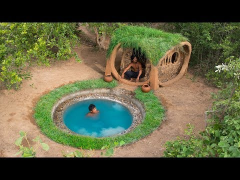 Build most beautiful natural underground swimming pool with Blue water