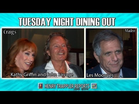 K Griffin J Savage L Moonves Dining Out Tuesday Night ...