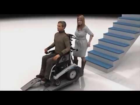 Oruga salvaescaleras sherpa 909 para sillas electricas for Sillas de escaleras para minusvalidos