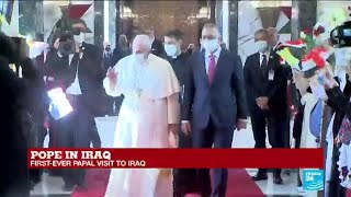 Pope Francis 'happy' to land in Iraq on historic 4-day visit