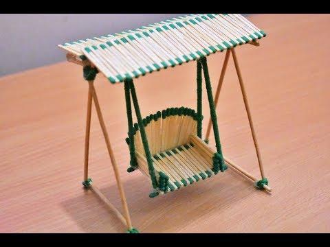 Matchstick Art and Craft Ideas | How to Make Matchstick Miniature Swing | Matchstick Jhula