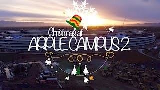 A Christmas Morning at Apple Campus 2 (4K Drone)