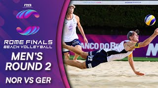 NOR vs. GER | Men's Round 2 | FIVB Beach Volleyball World Tour Finals Rome 2019