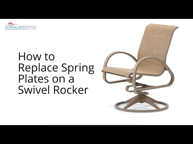 to replace swivel rocker spring plates