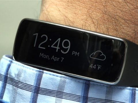 The Samsung Gear Fit combines smartwatch and fitness band, with mixed success