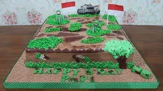 Kue Ulang Tahun TNI Terbesar 40cm 🎂 Kue Ultah Fondant Cake Tart Unik