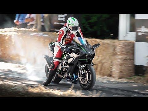 Best of Motorcycles at Festival of Speed 2019: 540hp Hayabusa, Ninja H2R, Norton Rotary, RC213V