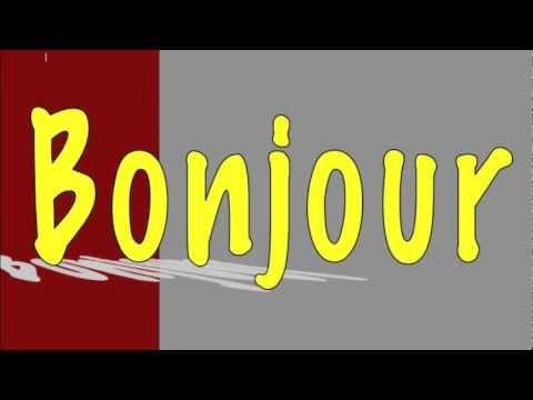 Learning french for children ( song Bonjour et merci )