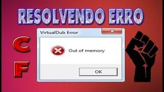 COMO RESOLVER O ERRO ' OUT OF MEMORY ' RAPIDO CFAL