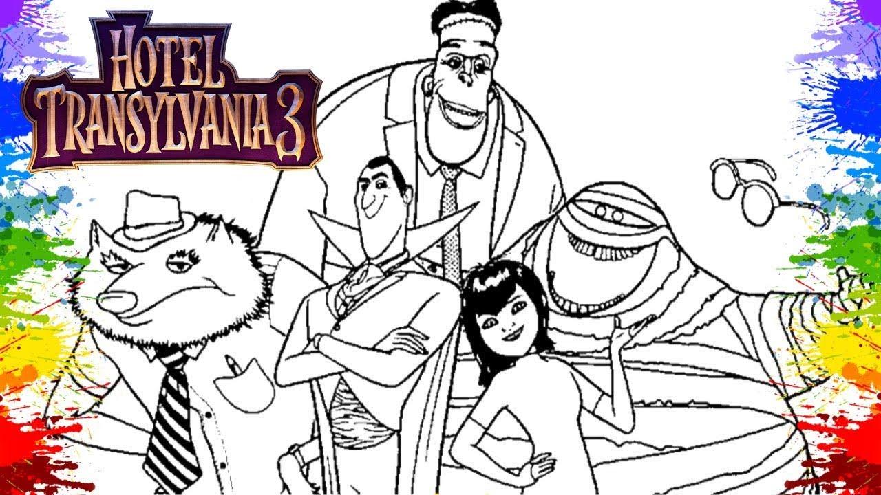 Desenhos para colorir Hotel Transilvânia 3 Video de crianças Movies 2018 Hotel Transylvania