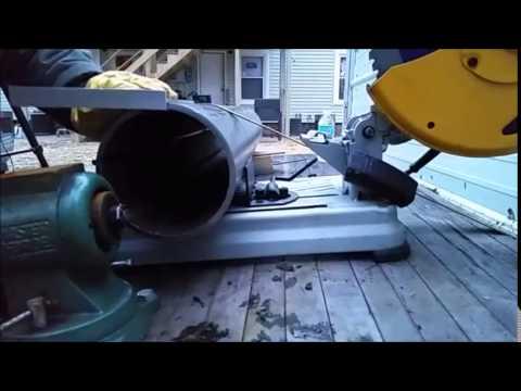 Резка 170 мм стальной трубы дисковой пилой для резки металла  / Pipe Cutting with Evolution Blade