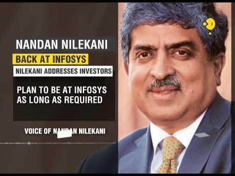Watch : Infosys' newly appointed Chairman Nandan Nilekani addresses investors