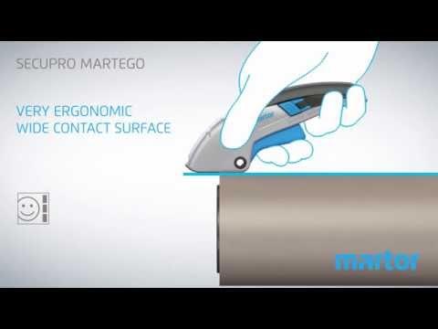 Safety knife MARTOR SECUPRO MARTEGO product video GB