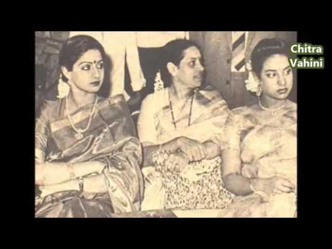 Sridevi with her Sister Srilatha and mother Rajeswari