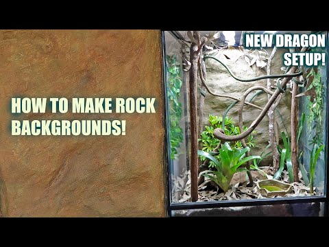 DIY Rock Wall For Reptiles (HOW TO)