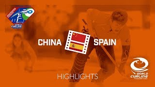 HIGHLIGHTS: China v Spain - World Mixed Doubles Curling Championship 2018
