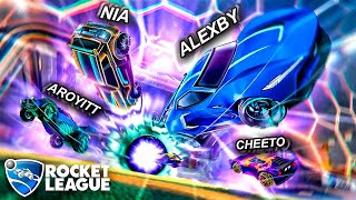*GRATIS* Jugando Rocket League con Cheeto, Aroyitt y Nia