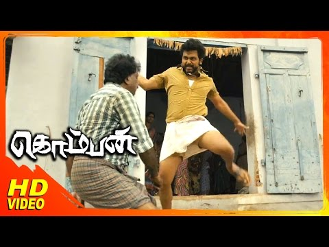 Komban Tamil Movie | Scenes | Karthi's Fight At Match Box Factory | Lakshmi Menon | Thambi Ramaiah