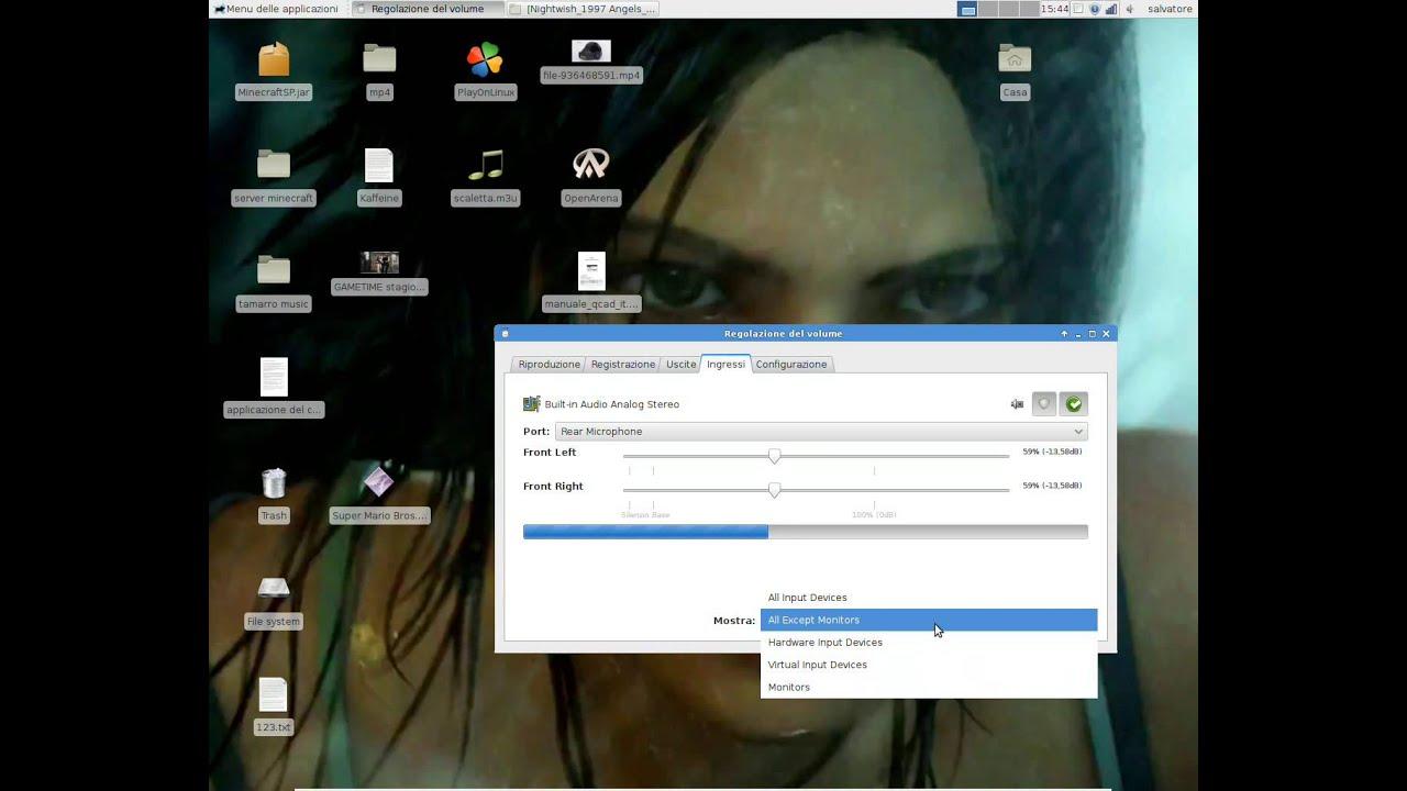 come registrare l'audio interno su linux - youtube