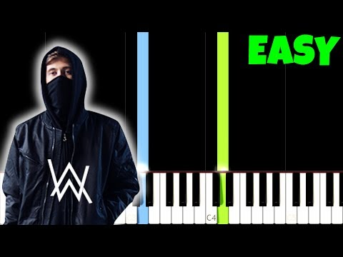 Alone - Alan Walker [Easy Piano Tutorial] (Synthesia/Sheet Music)