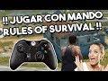 SE PUEDE JUGAR RULES OF SURVIVAL CON MANDO DESDE EL MÓVIL !! RULES OF SURVIVAL EN ESPAÑOL