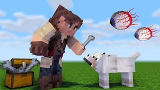 Я в мире Террарии но в Майнкрафт Выживание в Minecraft #04 Собака убивака
