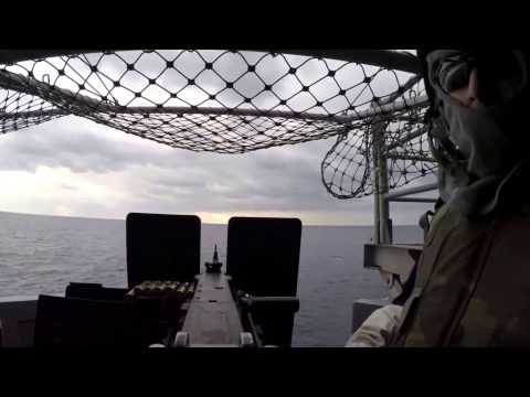 Amphibious Assault Ship .50 Caliber Gun Shoot