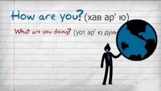 Английский Видео Разговорник #1 Приветствие / Школа Джобса