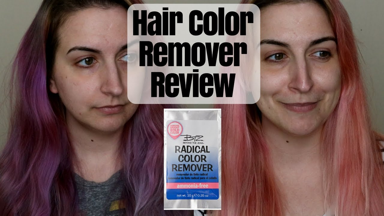 Removing Fantasy Hair Color W Remover Kirby Rose Youtube