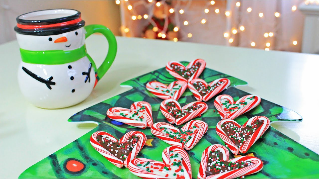 diy christmas treats candy cane hearts youtube