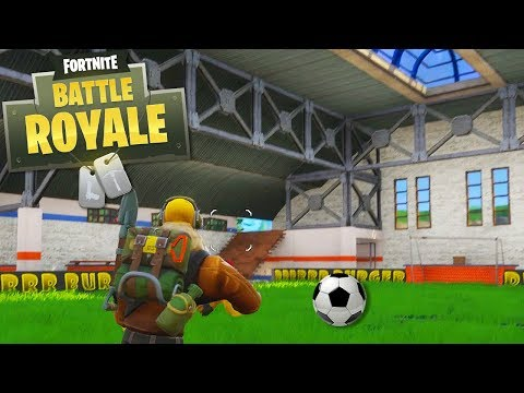 I FOUND THE SECRET SOCCER FIELD (Scoring a GOAL!) - Fortnite Battle Royale
