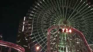 Япония. Колесо обозрения Cosmo Clock 21 в городе-порту Йокогама./ Japan. Yokohama. Cosmo Clock 21
