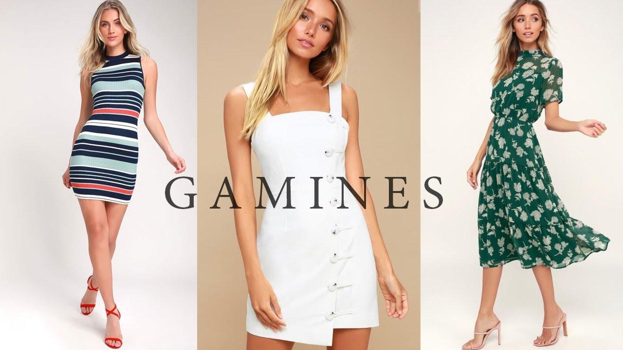 Summer Dresses KIBBE Gamine, Soft Gamine & Flamboyant Gamine