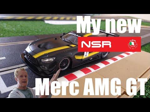 My new NSR Mercedes AMG GT slot car