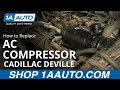 How To Install Replace Air Conditioning Compressor 67 Cadillac Sedan DeVille 1AAuto.com