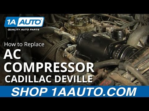 how to install replace air conditioning compressor 67 cadillac sedan rh youtube com