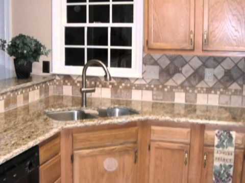 tile backsplash designs spice up your granite countertops with custom tile designs - Granite Countertops With Backsplash