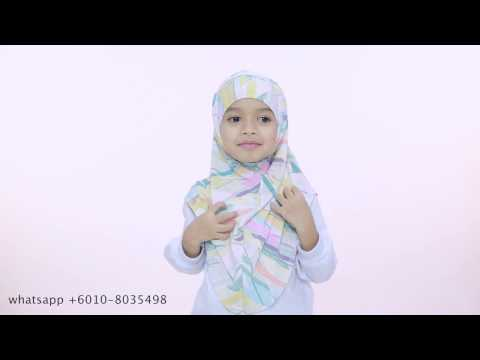 Kids Hijab Tutorial - Fuji Hijab by Aira Kamilia