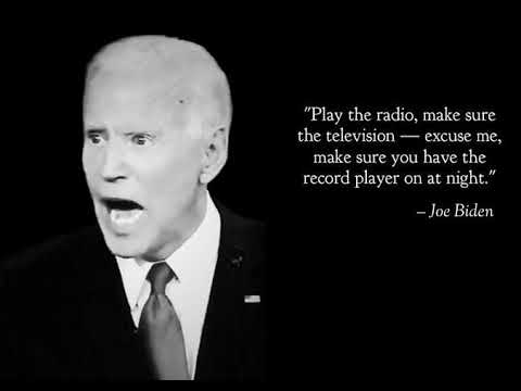 joe biden record player