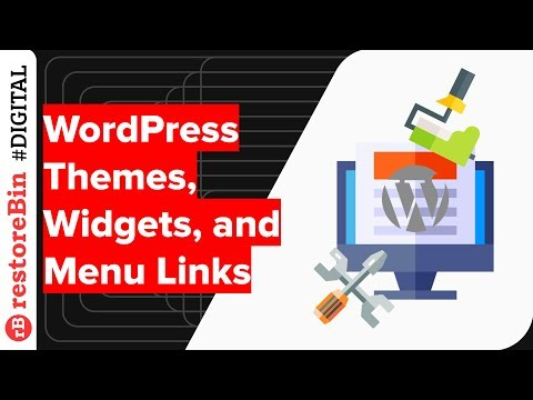 Installing WordPress Free Themes, Adding Menu, and the Widgets
