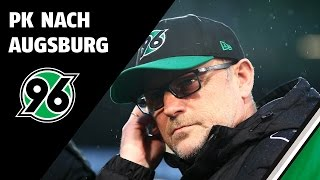 Schaaf und Weinzierl nach Hannover 96 vs. FC Augsburg (1. Bundesliga, 2015/16)