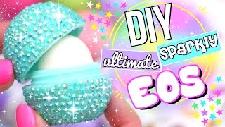 diy sparkly eos lip balm