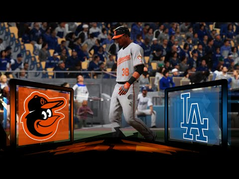 MLB 16 The Show Baltimore Orioles Franchise- World Series Game 3 at Los Angeles Dodgers