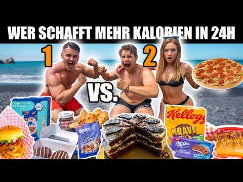 WER SCHAFFT MEHR KALORIEN IN 24 STUNDEN I 2 vs. 1 Cheat Day Battle auf MADEIRA 🍔🌭🍕