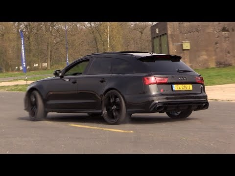 Audi RS6 C7 Avant w/ Decatted Downpipes - Drift, Revs, Drag Racing!