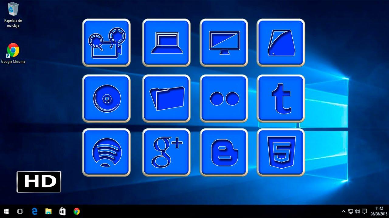 Poner iconos de escritorio en windows 10 youtube - Iconos para escritorio windows ...