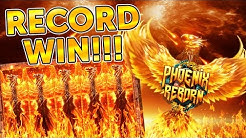 BONUS HUNT RECORD WIN!!! CRAZY ACTION ON PHOENIX REBORN!!