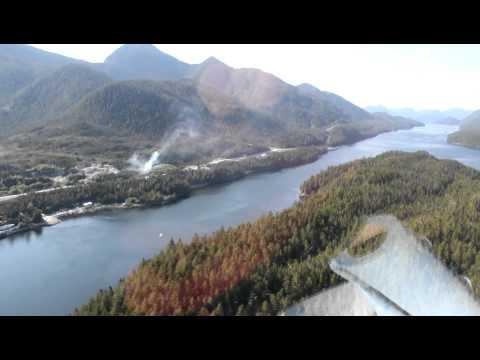 C-FYJB Take-off from TELUS Swindle Island Radio to Klemtu, BC