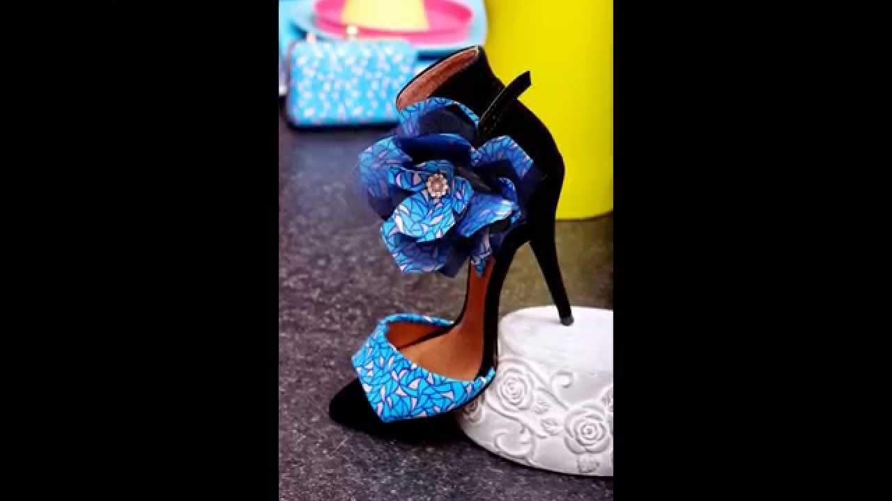 African Print High Heel Shoes