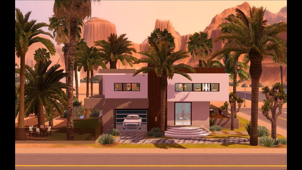 The Sims 3 - Building a Modern Celebrity Mansion - YouTube ...